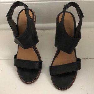 Dolce Vita Black Leather Heels 7.5